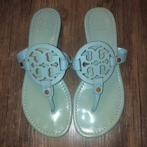 Tory Burch Turquoise Millers Sandals Size 8 VGUC